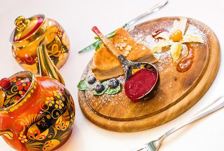 Гурьевский десерт с малиновым взваром